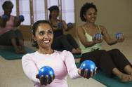 Stock Photo of multi-ethnic women in exercise class