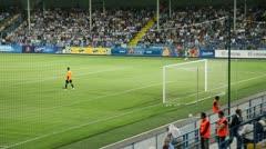 Soccer match between FC Sevastopol - Lviv FC Stock Footage