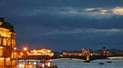Trinity Bridge, Peter and Paul Fortress Stock Footage