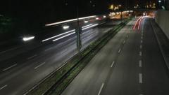Car traffic timelaps loop Stock Footage