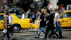 Anonymous Crowd Walking Crossing Street PAL 25p slow motion Stock Footage