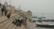 Stock Video Footage of Varanasi Ghats 02