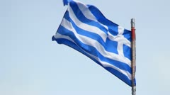Greece Flag Stock Footage