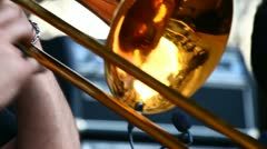 A man playing on trombone Stock Footage