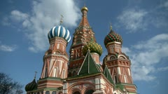 St. Basil's Cathedral On The Red Square In Moscow Russia - stock footage