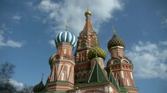 St. Basil's Cathedral And The Monument To Minin And Pozharsky Stock Footage
