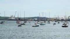 Falmouth Docks and Boats, Cornwall, England Stock Footage
