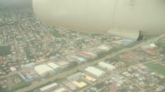 Suriname, Plane over Paramaribo Stock Footage