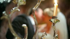 Candelabrum and wedding Stock Footage
