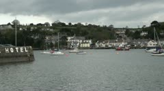 View towards Flushing from Falmouth, Cornwall, England Stock Footage