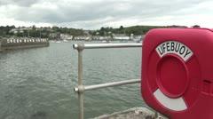 Lifebuoy, Falmouth, Cornwall, England Stock Footage