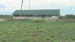 Suriname, Schoolbuilding at Palumeu Stock Footage