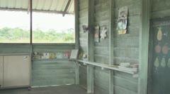 Suriname, schoolbuilding, schoolboard at Palumeu - stock footage