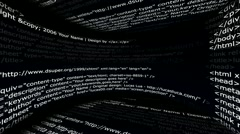 Html Web Code, Internet Concept 3 - HD1080 Stock Footage