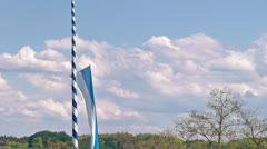 Winds blowing the bavarian flag Stock Footage