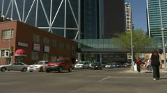 Architecture, Calgary, the bow, tilt up from east side Stock Footage