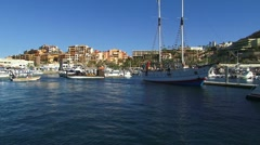 Cabo San Lucas Harbor 1 Stock Footage
