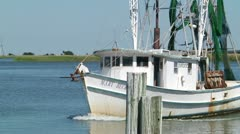 Fishing Boat 01 Stock Footage