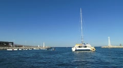 Catamaran Out to Sea 2 Stock Footage