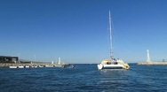 Stock Video Footage of Catamaran Out to Sea 2
