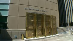 Architecture, Calgary, Calgary Courts centre Stock Footage