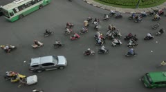 HCMC Traffic at Intersection Stock Footage