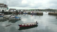 Boats in Falmouth Harbour, Cornwall, England Stock Footage
