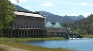 Stock Video Footage of The Moccasin Hydroelectric Power Plant Close 1