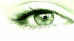 Women's eye green Stock Footage