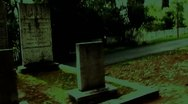 Stock Video Footage of Surreal Old Graveyard Tracking Shot