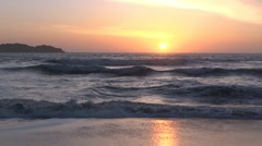 CA beach sunset 2 by dwking Stock Footage