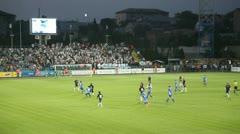 Soccer match between FC Sevastopol - Lviv FC. Stock Footage