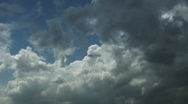 Storm clouds leave Stock Footage