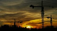 Stock Video Footage of Construction At Dusk HD