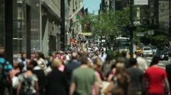 Anonymous Crowd of People Walking slow motion 30p Stock Footage