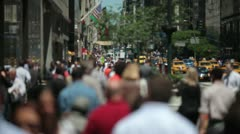 Anonymous Crowd of People Walking  25p PAL Stock Footage