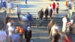 Hustle and bustle of people. Timelapse view Stock Footage
