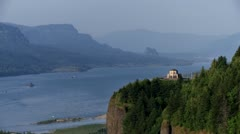 Crown Point, Columbia River - stock footage