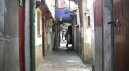 Stock Video Footage of Narrow street in the old parts of Shanghai, China