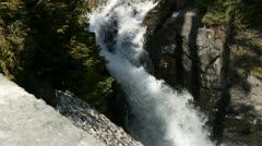 Mt Rainier stream, snow melt Stock Footage