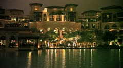 Dubai hotel water Stock Footage