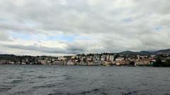 Panoramic views of Lugano. Stock Footage