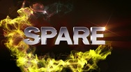 SPARE Text in Particle (Double Version) - HD1080 Stock Footage