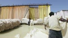 Bleaching pool, Rajasthan, India Stock Footage