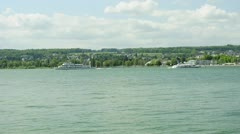 Lake Bodensee with ferrries Stock Footage