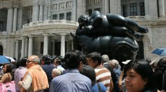 Botero sculpture Stock Footage