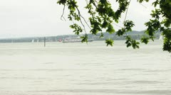 Bodensee Gerrmany Suisse ferry ship - stock footage