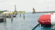 Germany Bodensee harbour of Konstanz Stock Footage