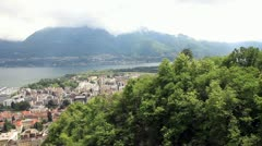 Panoramic views of Locarno. Switzerland. Europe. Stock Footage