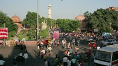 Traffic congestion, Jaipur, India Stock Footage